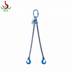 Lifting chain double legs sling with clevis sling hook - G100