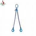 2T WLL Lifting chain double legs sling 6mm  with swivel selflock sling - G100