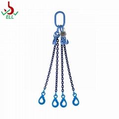 EN818 alloy Chain sling 3/ 4 legs high strength standard-G100