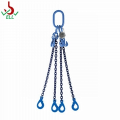 Chain sling 3 or 4 legs with clevis selflocking  hook -G100