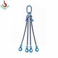 Lifting rigging Chain sling 3 or 4 legs with eyes selflock hook -G100