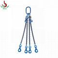 Lifting rope Chain sling 3 or 4 legs with swivel selflock hook -G100