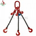 Lifting sling chain 3 legs with clevis sling hook - G80