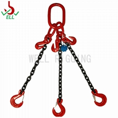 Lifting sling chain 3 legs with clevis selflock hook - G80