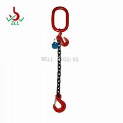lifting rope adjustable Single leg chain with eye sling hook - G80