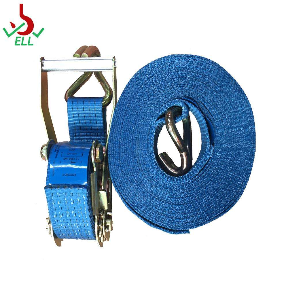 4T Ratchet Lashing strap LC2000 with double J hook 5