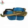 25mm 1T Ratchet Lashing strap with S hook EN12195