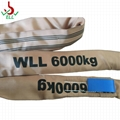 8T soft endless Round sling webbing for lifting