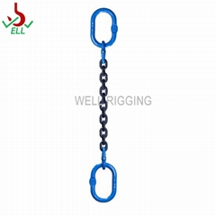 Single lifting chain rigging sling with master link hook -G100
