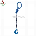 adjustable length alloy Single leg lifting rigging chain sling -G100