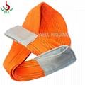 2T WLL lifting polyester webbing sling flat
