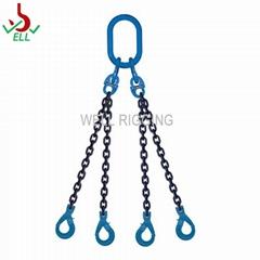 起重链条索具旋转自锁安全钩 3腿 100级