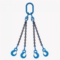 Lifting rigging Chain sling 3 or 4 legs with eye sling hook with latched -G100