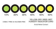 Yellow Cobalt-free Humidity Indicator Card for PCB Packaging