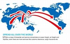 深圳到美國波士頓港整櫃散貨到港海運雙清服務
