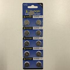 Tianqiu LR44 button cell battery AG13 alkaline battery watch battery