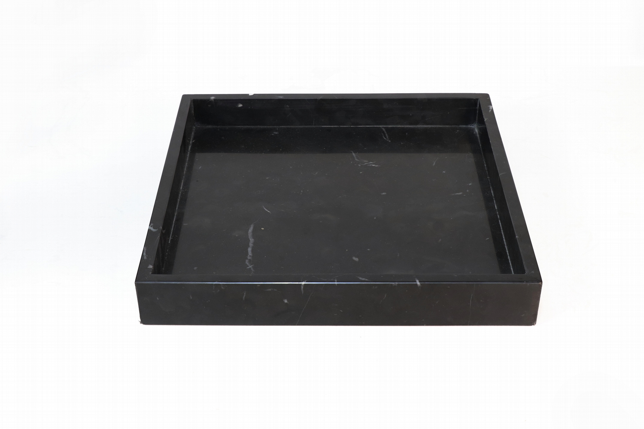 black marble tray, natural stone tray, serving tray