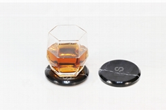 Black marble stone coaster for promotional / gift