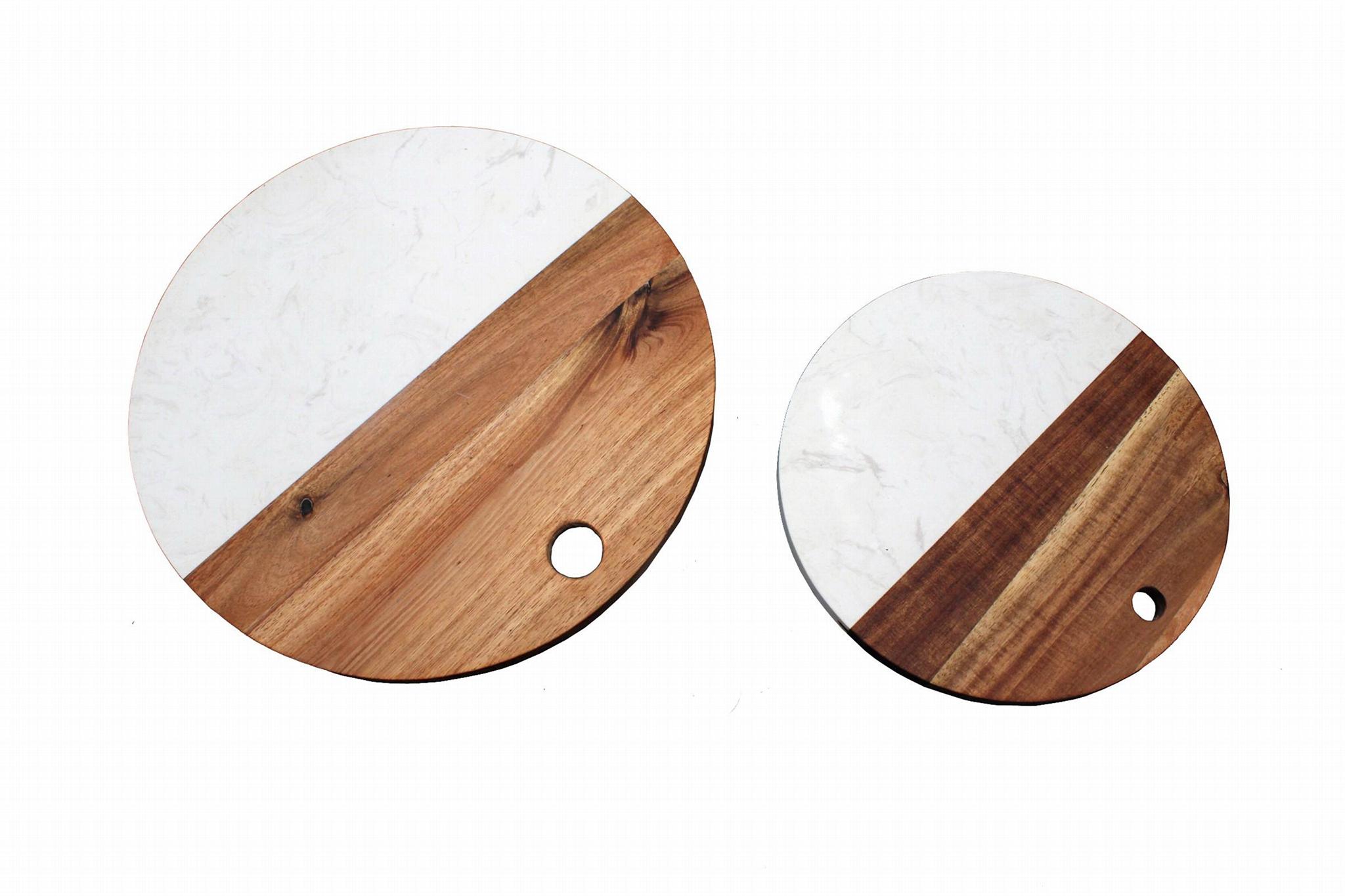 round wood cutting board