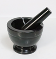 Natural Black Marble Stone Mortar And Pestle
