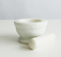 Stone Mortar and Pestle Set - Natural Marble Stone Grinder Bowl Holder for Herbs 4