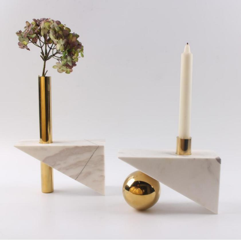 marble candle holder 1