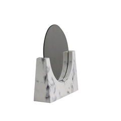 Cosmetic Makeup Stand for Bathroom, Dresser with Dual Magnification