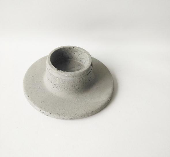 concrete cylinder candle holder made in china