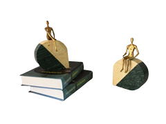 Decorative natural marble bookend