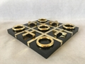 X O Decorative Piece With Titanium Chessboard Chess Game