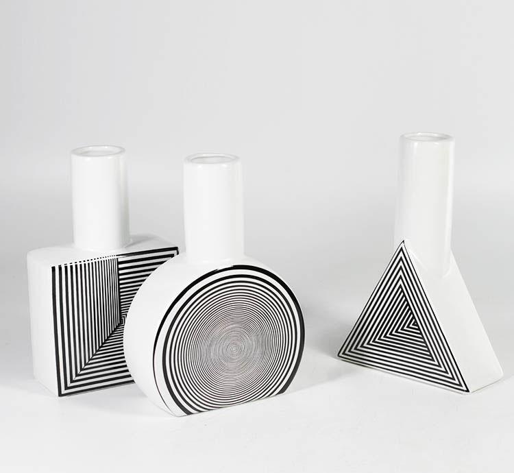 home decorative white porcelain vase art