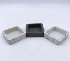 Wholesale factory high quality custom ashtray concrete terrazzo ashtray