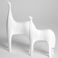 home decoration white and black horse table decoration resin decoration