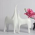 home decoration white and black horse table decoration resin decoration 4