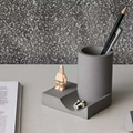 fair-faced concrete penholder desk organizer