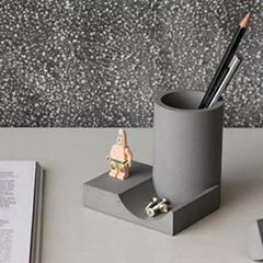 fair-faced concrete penholder desk organizer