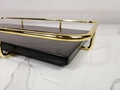 rectangle marble serving tray with gold handle 3