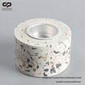 Terrazzo Tea Light Holder Concrete Stoneware Candle Holder FREE SAMPLE