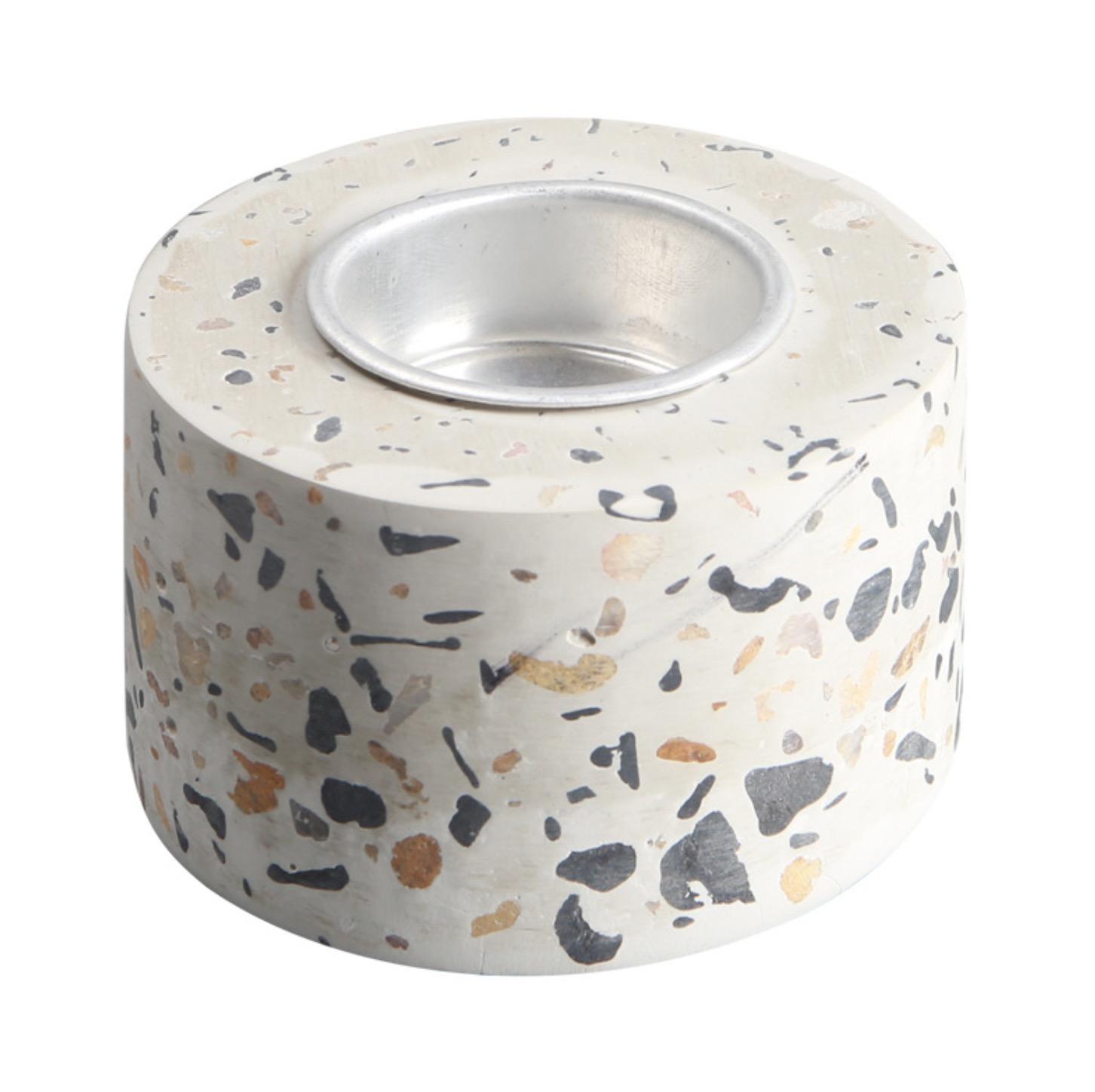 Terrazzo Tea Light Holder Concrete Stoneware Candle Holder FREE SAMPLE 3