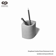CONCRETE PEN HOLDER Desk Organization Pen Holders Blush Pen Cup