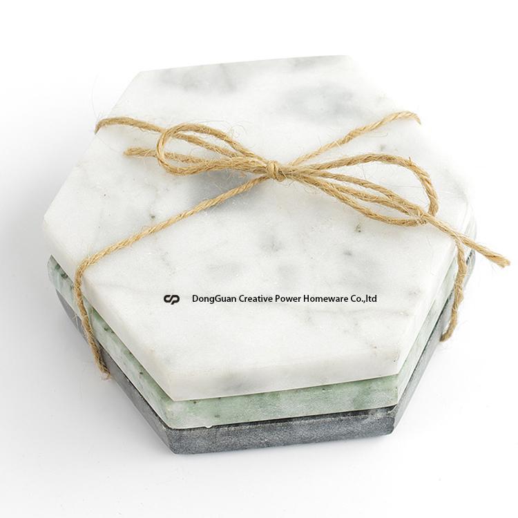 custom marble grey stone coasters diy