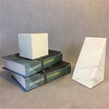 modern triangle white marble bookends, Set of 2