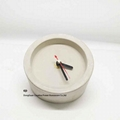 Home Decoration Round Shape Cement Clock