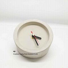 Home Decoration Round Shape Cement Clock