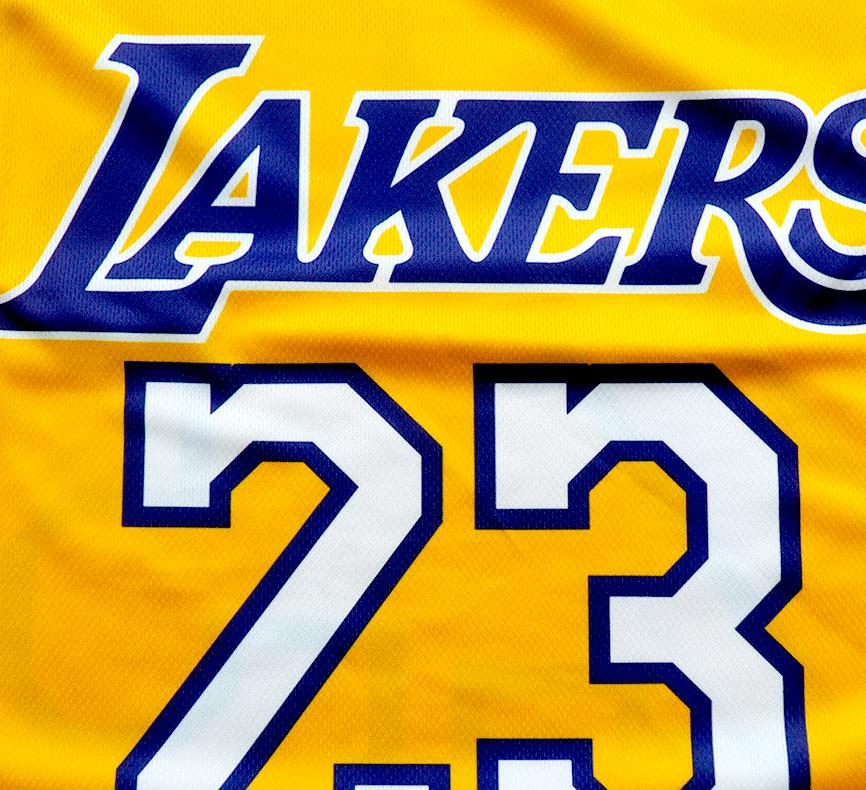 2019 23 LeBron James Lakers shirt custom Los Angeles Lakers Basketball jersey 3