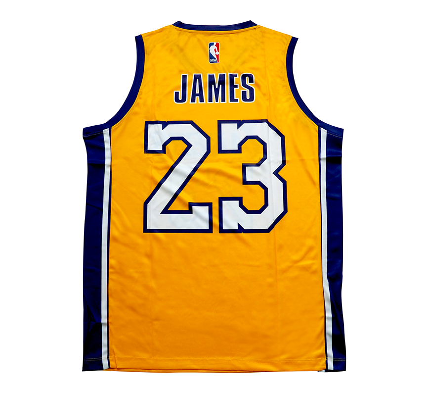 2019 23 LeBron James Lakers shirt custom Los Angeles Lakers Basketball jersey 2