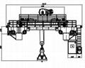 25吨下旋转伸缩挂梁电磁桥式起重机 3