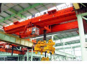 25吨下旋转伸缩挂梁电磁桥式起重机 1