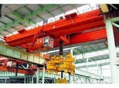 25 ton electromagnetic bridge type rotary telescopic beam crane