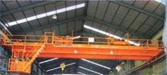 5+5 ton QE double trolley hook bridge crane